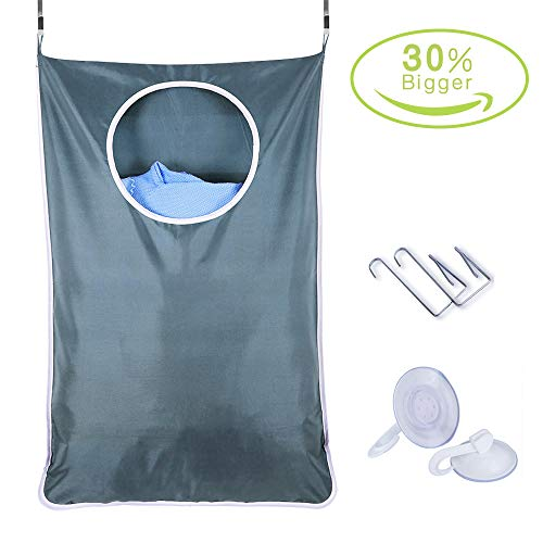 Hanging Laundry Hamper Bag,Over The Door Laundry Hamper with Door Hooks,Ultra-Large Hanging Laundry Basket for Holding Clothes and Saving Space,Open Top Design to Hold More Laundry,Strong and Durable