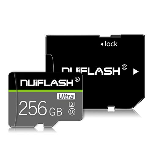 256GB Micro SD Card,Micro Memory Card (Class 10 High Speed) TF Card with SD Card Adapter for Camera, Phone, Computer, Nintendo Switch, Dash Came, Surveillance,Drone…