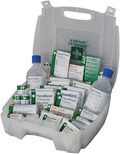 Safety First Aid Group First Aid and Eye Wash Kit for 1-10 Persons