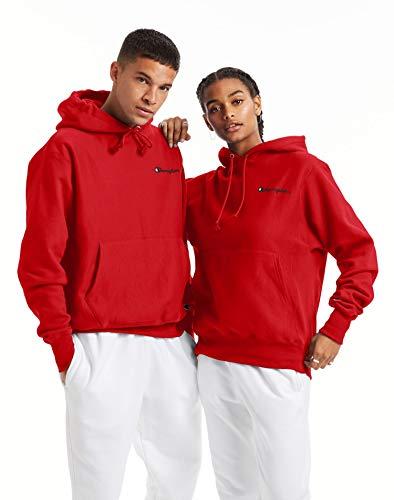 Champion Men's Reverse Weave Pullover Left Chest Script, Team Red Scarlet, 3X-Large