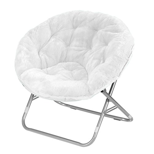 Urban Shop Faux Fur Saucer Chair, White