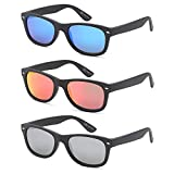 Gamma Ray Polarized Sunglasses for Men and Women 3 Pack