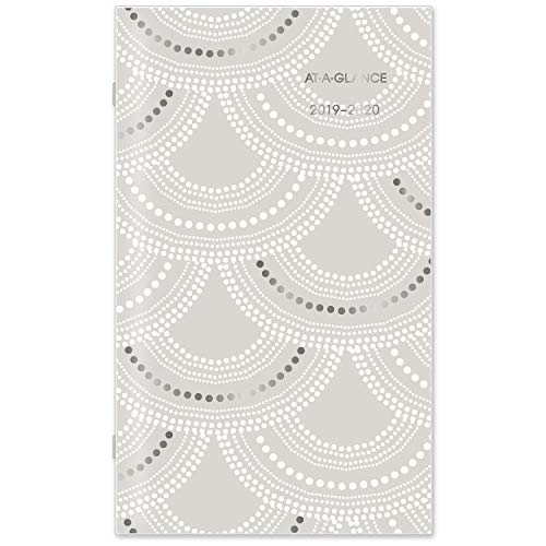 AT-A-GLANCE 2019-2020 Monthly Planner, 2 Year, 3-1/2' x 6', Pocket, Serene Scallops (5138S-021)