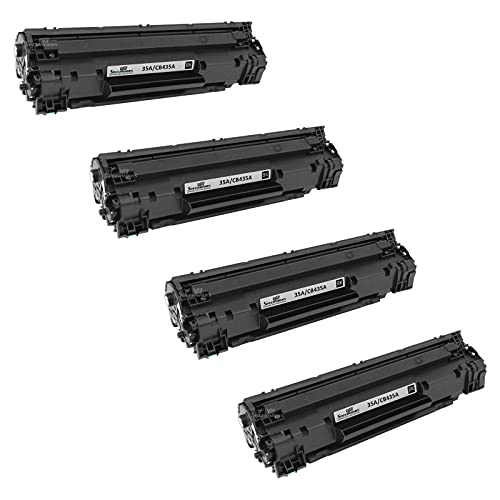 Speedy Inks Compatible Toner Cartridge Replacement for HP 35A (Black, 4-Pack)