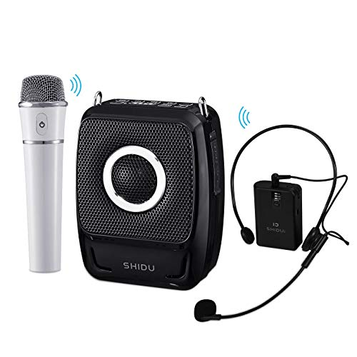 Wireless Voice Amplifier with Two Microphone, S92 25W Rechargeable Portable Bluetooth 5.0 PA Speaker System for Teacher Tour Guide Meeting Training Wedding Karaoke