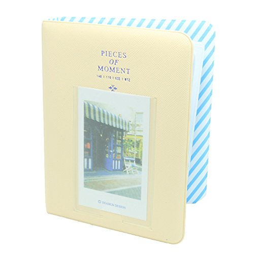 CaiulBasic Album1Yellow Pieces of Moment Book Album for Films of Instax Mini 7s 70 8 25 50s 90/Pringo 231/Fujifilm Instax SP-1/Polaroid PIC-300P/Polaroid Z2300 (64 Photos, Cream)
