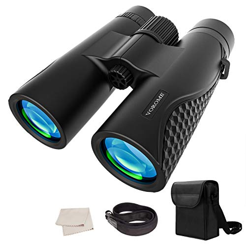 VOROME 12x42 Roof Prism Binoculars for Adults Kids with Clear Low Light Vision, High Power Easy Focus Binoculars for Bird Watching Travel Stargazing Wildlife Watching Concerts BAK4 Prism FMC Lens