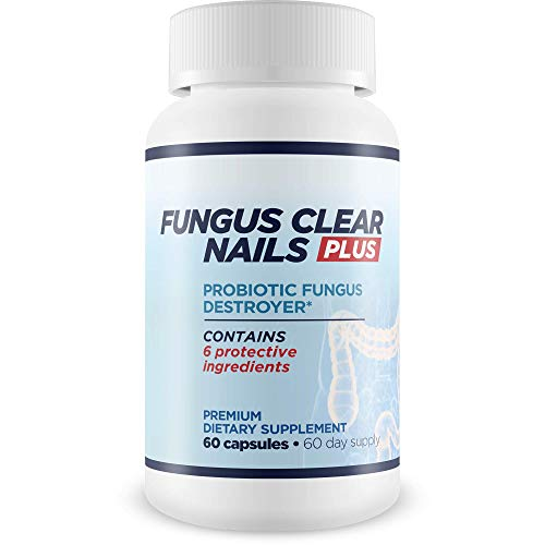 Fungus Clear Nails Plus Antifungal Probiotic Pills - Probiotic Fungus Destroyer - Destroy Fungus From Within With A Probiotic Boosted Immune System - Eliminate Fungus Naturally & Safely