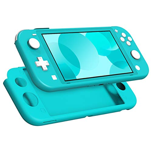 MoKo Case Compatible with Nintendo Switch Lite, Silicone Protective Rubber Cover, Shock-Absorption Anti-Scratch Non-Slip Case Compatible with Nintendo Switch Lite Console - Turquoise