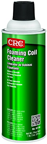 CRC Foaming Coil Cleaner, 18 oz Aerosol Can, Clear/Yellow