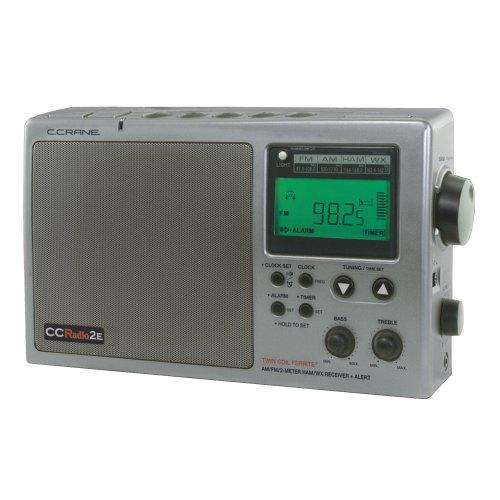 C. Crane CC Radio-2E Enhanced Portable AM FM Weather and 2-Meter Ham Band (Titanium) CC2TE