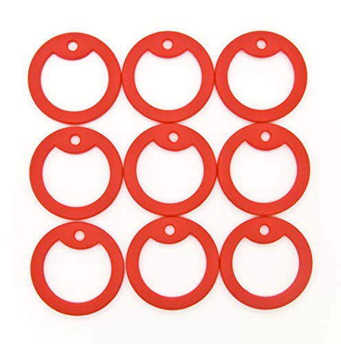 500 pcs Red Military Army Dog Tag Silencer Silicone/Rubber Silencer