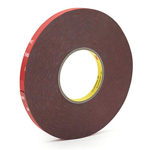 3M Heavy Duty Foam Mounting Tape 100 Feet 0.4Inch Width Strong Adhesive Waterproof Removable Mounting Tape for LED Strip Lights, Home Decor, Office Decor