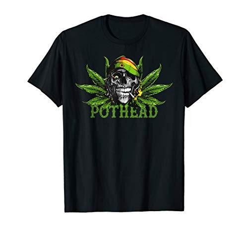 Vintage Pothead Weed Skull Marijuana & Cannabis Shirt