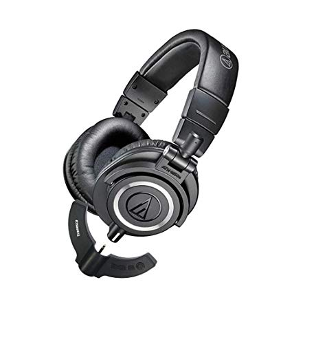 Tranesca Compatible Bluetooth Adapter Receiver for Audio Technica ATH-M50x Headphones (Black)