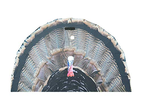 KILLERGEAR TurkeyFan, Hands-Free Male Turkey Fanning Decoy for Hunting, Filming and Viewing, Portable, Compact and Light Weight, 3D Head with Custom Window, Built-In Ground Stake, Carrying Bag