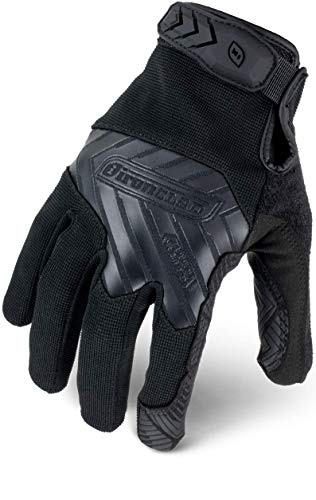 IRONCLAD Command Tactical Grip, Touch Screen Gloves Conductive Palm and Fingers, Extreme Grip, Durable, Performance Fit, Machine Washable, Sized S, M, L, XL, XXL (1 Pair) (Large, Black)