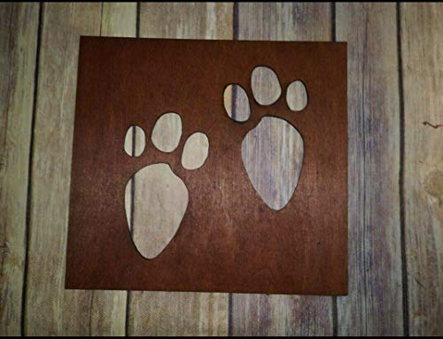 Bunny Tracks Stencil - Wooden Stencil for Easter Bunny - Easter Bunny