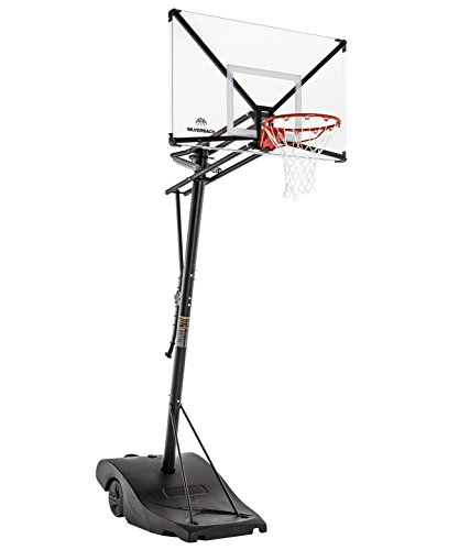 Silverback NXT 54' Backboard Portable Height-Adjustable Basketball Hoop Assembles in 90 Minutes