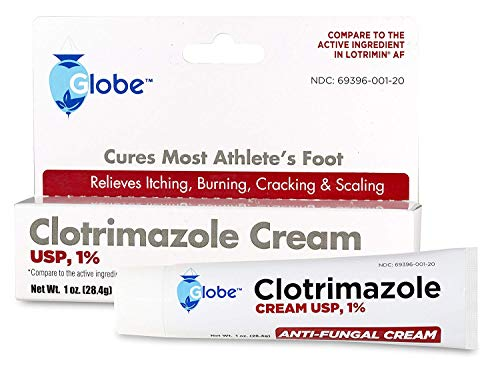 Clotrimazole Antifungal Cream 1% USP 1 Oz, Compare to Lotrimin Active Ingredient (1 Tube/Pack)