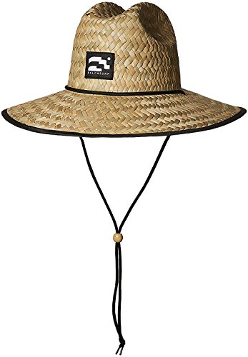 Brooklyn Surf Men's Straw Sun Lifeguard Beach Hat Raffia Wide Brim, Natural, One Size