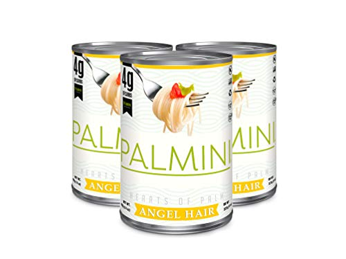 New Palmini Low Carb Angel Hair | 4g of Carbs | As Seen On Shark Tank | Gluten Free (CAN, 3)