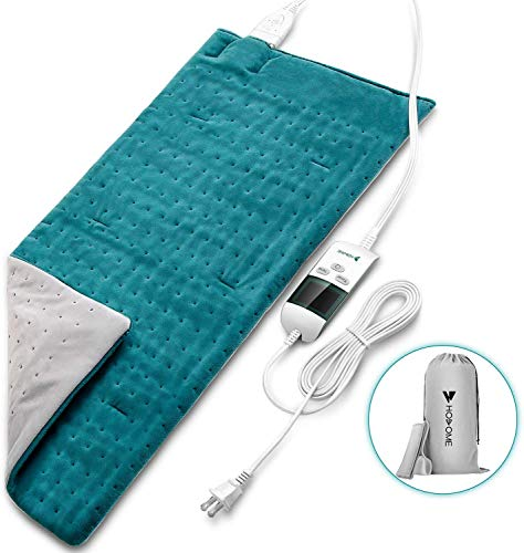 Heating Pad, Hosome Upgrade Fast Heating Pad for Pain Relief and Cramps with 8 Temperature Modes, Moist Therapy Heating Pad with 6 time Settings, King Size Electric Heating Pad