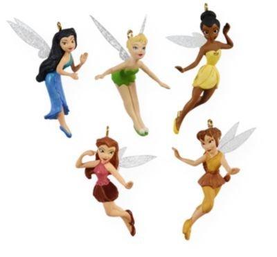 Tinker Bell and Friends Pixie Hollow 5pc set 2009 Hallmark Miniature Ornaments QXM9102