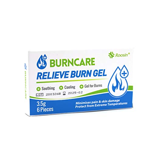 First aid Burn Care Relief Gel jel Cream 3.5g 1/8oz 6pieces per Box