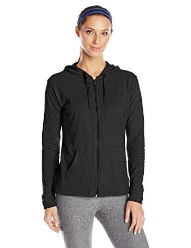 Hanes Women's Jersey Full Zip Hoodie, Black, XX-Large
