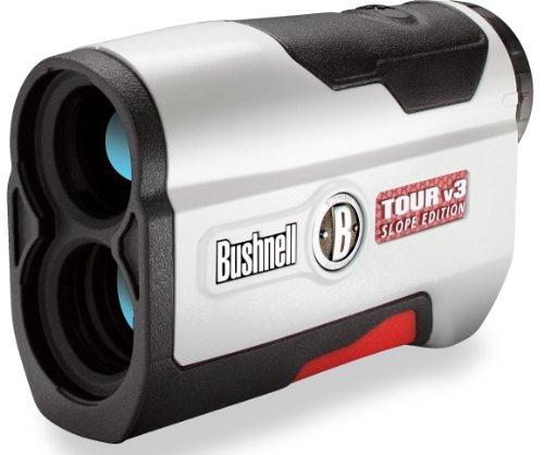 Bushnell Tour V3 Slope Edition Golf Laser Rangefinder, White