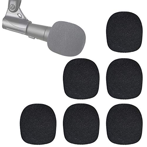 SM58 Windscreen - Pof Filter Foam Windscreen Microphone Cover for Shure SM58S SM58-LC Ball Type Mic to Reduce Wind Noises by YOUSHARES (6 Pack)