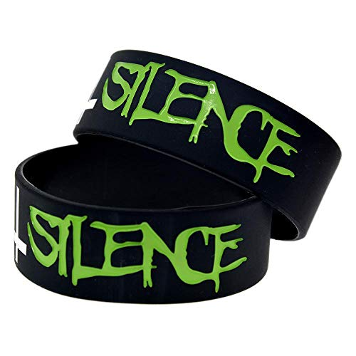 Dixinla Sports Wristbands Fashion Bracelet Silicone with Logo 'Suicide Silence' Rubber Wristbands for Kids Motivation for Friends Set of 10 Pieces