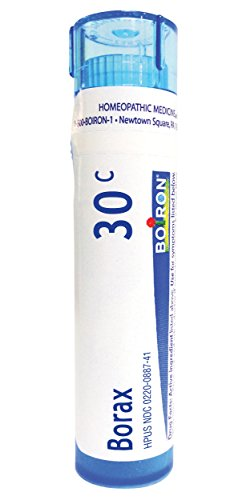 Boiron Borax 30C, 80 Pellets, Homeopathic Medicine for Canker Sores
