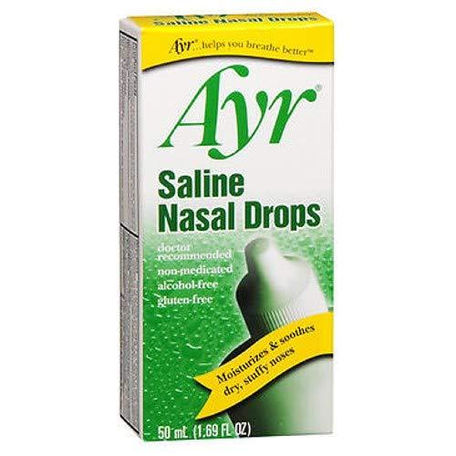 Special pack of 5 AYR SALINE NASAL DROPS 50 ML