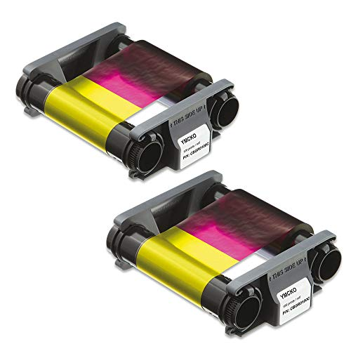 Evolis Badgy CBGR0100C Color Ribbon for Badgy100 & Badgy200 2 Pack