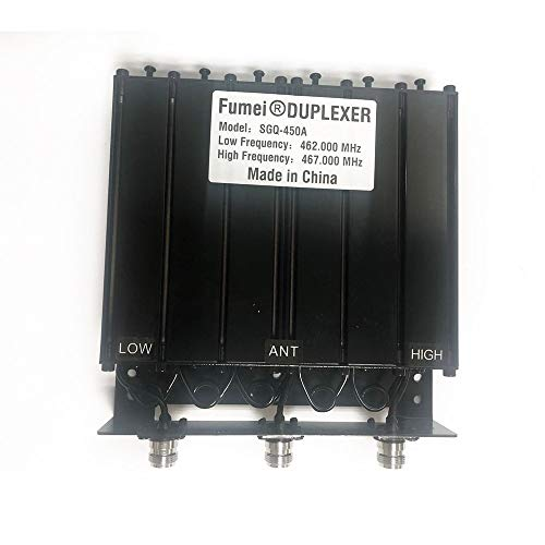 Fumei UHF 400-470MHz 50W Duplexer for Radio Repeater with Preseted Low Frequency 462MHz & High Frequency 467MHz & N Female connectors
