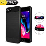 Qi Wireless Charging Case for iPhone 7/6/6S, ANGELIOX Wireless Charger Charging Receiver Back Cover,Soft TPU Protective Case,Brushed Surface Finish,with Cable Charging Port(4.7'-Not Battery)