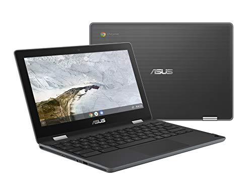 "ASUS Chromebook Flip C214MA-YS02T 11.6"" Ruggedized and Water Resistant Chromebook, 360 Touchscreen 2 in 1, Intel N4000, 4GB DDR4 RAM, 32GB Storage, Mil STD design, Chrome OS, Stylus"