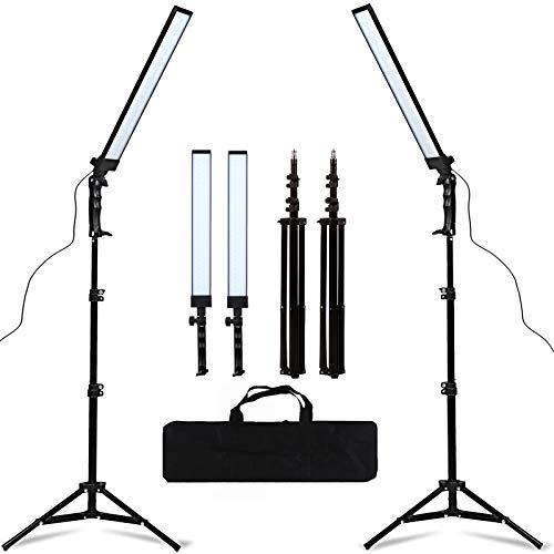 GSKAIWEN 180 LED Light Photography Studio LED Lighting Kit Adjustable Light with Light Stand Tripod Photographic Video Fill Light