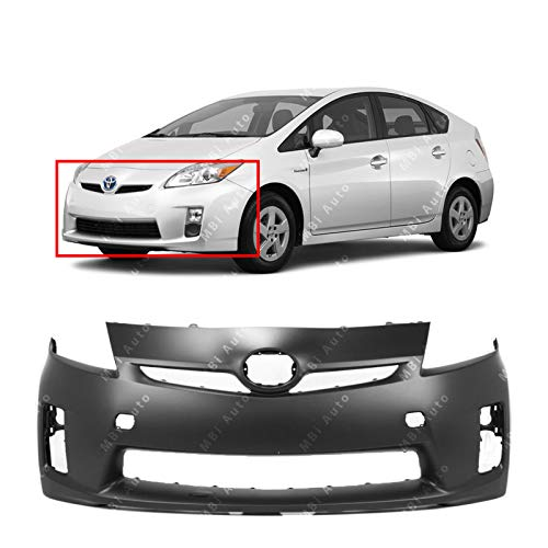BUMPERS THAT DELIVER - Primered, Front Bumper Cover Fascia for 2010 2011 Toyota Prius w/Halogen Headlights 10 11, TO1000359