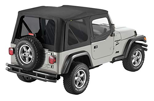 Pavement Ends by Bestop 51197-35 Black Diamond Replay Replacement Soft Top Tinted Back Windows w/ Upper Door Skins for 1997-2006 Jeep Wrangler