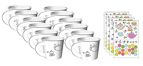 Tea Time Tea Party Decorate Your Own Favor Cups (12 ct)