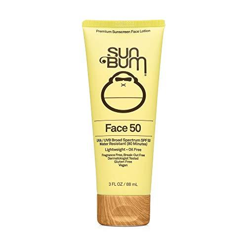 Sun Bum Original SPF 50 Sunscreen Face Lotion   Vegan and Reef Friendly (Octinoxate & Oxybenzone Free) Broad Spectrum Fragrance-Free Moisturizing UVA/UVB Sunscreen with Vitamin E , Yellow , 3 oz