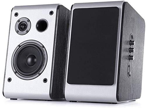 Bluetooth Speakers Stereo Speakers Bluetooth 5.0Hi-Res Audio DSP Wooden Enclosure Wireless Studio Monitors