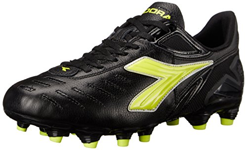 Diadora Women's Maracana L W Soccer Shoe, Black/Yellow, 6 M US