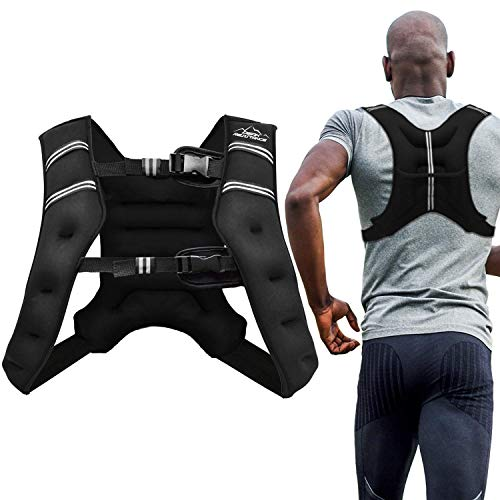 Aduro Sport Weighted Vest Workout Equipment, 4lbs/6lbs/12lbs/20lbs/25lbs Body Weight Vest for Men, Women, Kids (25 Pounds (11.34 KG))