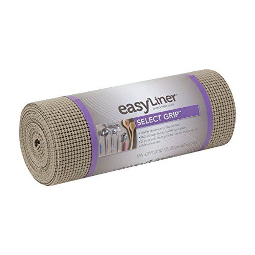 Duck Non-Adhesive Shelf Liner Select Grip EasyLiner, 12-inch x 20 Feet, Brownstone
