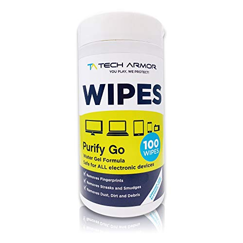 Computer Cleaning Wipes by Tech Armor - Electronics Screen Cleaner for Phone, Tablet, Smart Watch, and Electronics Devices [100 Wipes]