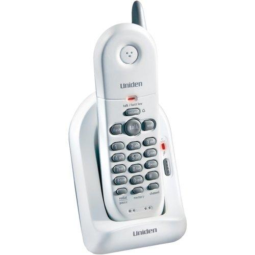 Uniden EXP4540 2.4 GHz Extended Range Compact Cordless Phone,White